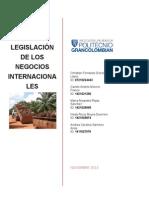 Proyecto Legislación de Los Negocios Internacionales
