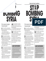 StW 5 Reasons Not to Bomb Syria