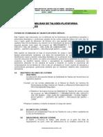 Estabilidad de Talud y Plataforma