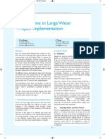 Time Frame in Large Water Project Implementation