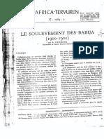 Le soulèvement des Babua de 1900 - 1901
