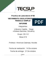 Laboratorio 05 Ondas Diego Moreno Castillo