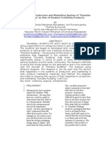 Analysis of Production and Marketing System of