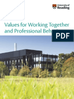 Humres-Values for Working Together and Professional Behaviours