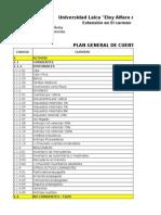 Plan de Cuenta general y ejemplo de estados financieros