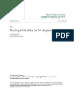 Teaching Methods for the Art of Japanese Painting