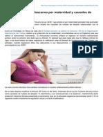 Laboraperu.com - Ley 30367 Amplían Descanso Por Maternidad y Causales de Nulidad de Despido