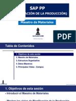 Alfilsap SAP PP Maestro de Materiales