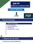 Alfilsap SAP PP Listas de Materiales