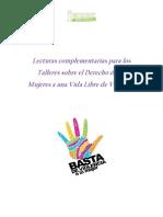 Lecturas Complementarias Talleres Derecho a una Vida Libre de Violencia -Mujeres-