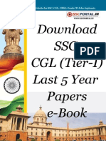 Download SSC CGL Tier I Last 5 Year Papers e Book Www.sscportal.in (1)