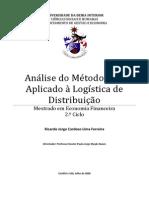 Analise Do Metodo ABC Aplicado a Logistica de Distribuicao