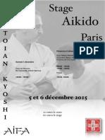 12/2015 Aikido Seminar Paris
