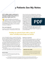 Why I Let My Patients See My Notes
