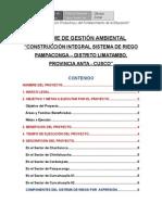 Informe de Gestion Ambiental-limatambo Pampaconga