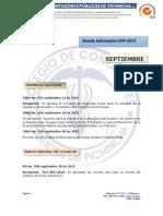 Boletín Informativo 009-2015