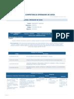 Perfil Competencia Operador de Grua