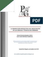 La Producción Intelectual de Carlos Matus (Versión 1)