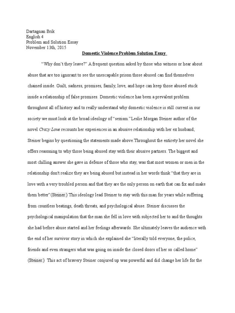 Essay domestic violence domestic violence psychological abuse