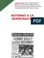 Retorno a La Democracia Chile