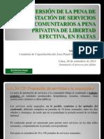 La Conversión de La Pena de Prestación de Servicios Comunitarios a Pena Privativa de Libertad Efectiva, En Faltas