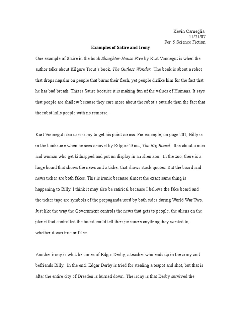Example Satire Essay How To Write An Effective Satire Essay