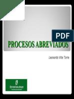 Procesos Abreviados