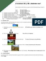 spanish 1 mi comunidad test review answers