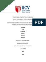 EDIFICACIONES MODERNAS COMO FACTOR DEL DESARROLLO URBANO SOSTENIBLE EN SAN JUAN DE LURIGANCHO 2015-II