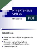 Hypertensive Emgerencies