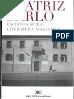 Sarlo, Borges y Lo Menor