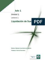 Lectura 1 - Liquidación de Sueldos