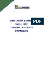 Simulaciones Examen DAF NII EFA