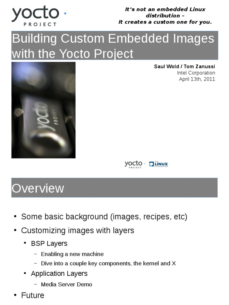 40429-Building Custom Embedded Images With the Yocto Project