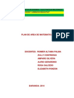 Plan de Estudio Mateamatica 2014