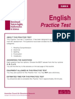 IBT Sample Paper Grade 6 English