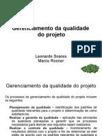 Gerenciamento de Qualidade do Projeto
