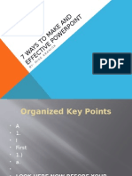 7 ways to make and effective powerpoint