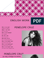 Penelope Cruz1ppt basic english