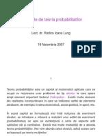 Elemente de Teoria Probabilitatilor