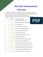 leadership self assessment activity