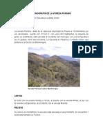 Monografia de La Vereda Páramo