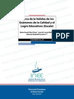Acerca de La Validez de Los Examenes de La Calidad y El Logro Educativos Excale