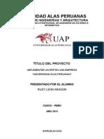 Estudio Para La Implementacion de Un Sistema en Erp Para La Universidad Alas Peruanas