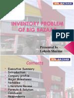 Inventory problem of big bazaar