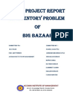 Live Project on Inventory Problem of big bazaar
