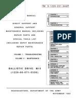 TM 9-1220-231-34&P - Ballistic Drive M15