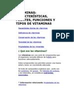 Informe de Vitaminas