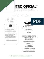Registro Oficial 033 - Categorización Ambiental Nacional
