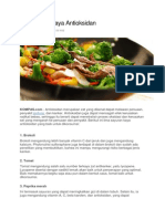5 Makanan Kaya Antioksidan